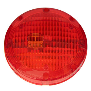 "7"" WARNING LIGHT LENS, RED"