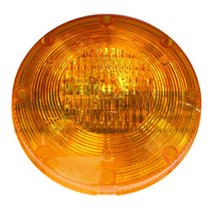 AMBER WARNING LIGHT LENS, 7""