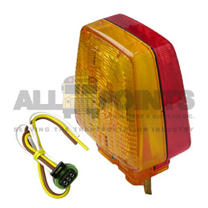 DOUBLE FACE TURN SIGNAL ASSEMBLY, AMBER/RED, RIGHT