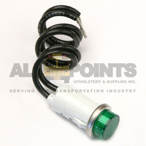 PILOT LIGHT-  GREEN  WITH WIRES