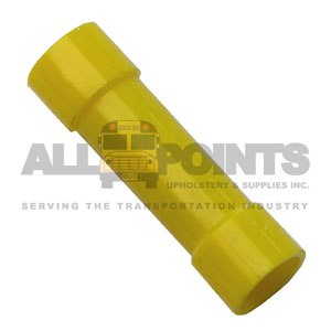 BUTT CONNECTOR, YELLOW, 12-10 GAUGE VYNIL