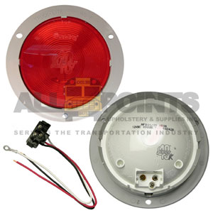 40 SERIES STOP/TAIL/ TURN LIGHT, GRAY FLANGE