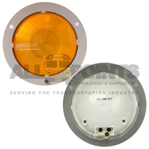 40 SERIES AMBER LIGHT WITH GRAY FLANGE