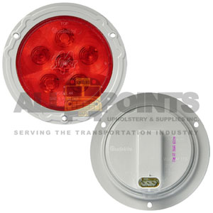 "4"" LED SUPER 44 S/T/T W/GRAY FLANGE, RED"