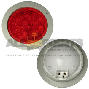 LED 40 STOP/TAIL/TURN LIGHT, RED WITH GRAY FLANGE