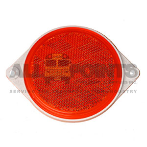 "3"" ROUND, 2-HOLE REFLECTOR, RED"