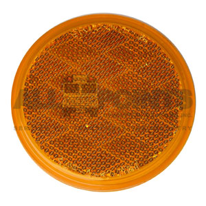"3"" SELF ADHESIVE REFLECTOR, AMBER"