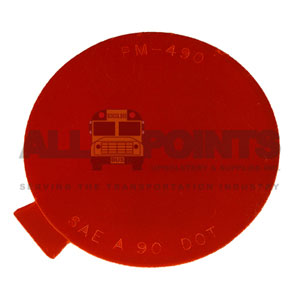 "SOFT REFLECTOR, 3"" ROUND, RED"