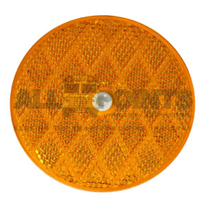 "3.25"" ROUND CENTER HOLE REFLECTOR, AMBER"