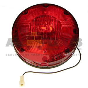 RED WARNING LIGHT ASSEMBLY WITH H3 BULB