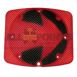 RECTANGULAR RED LENS WITH ARROW