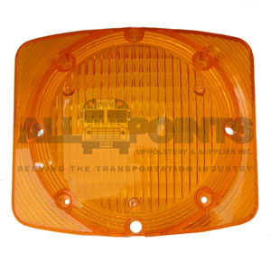 RECTANGULAR WARNING LENS, AMBER