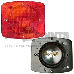 RECTANGULAR WARNING LIGHT ASSEMBLY, RED